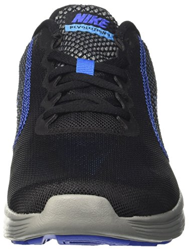 Nike Revolution 3, Chaussures de Running Homme Noir (Black / Medium Blue / Cool Grey / Photo Blue)