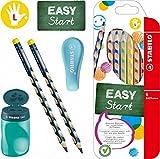 Stabilo EASY-Starter-Set L2 petrol mit Bleistiften, Buntstiften, Dosenspitzer und Radierer