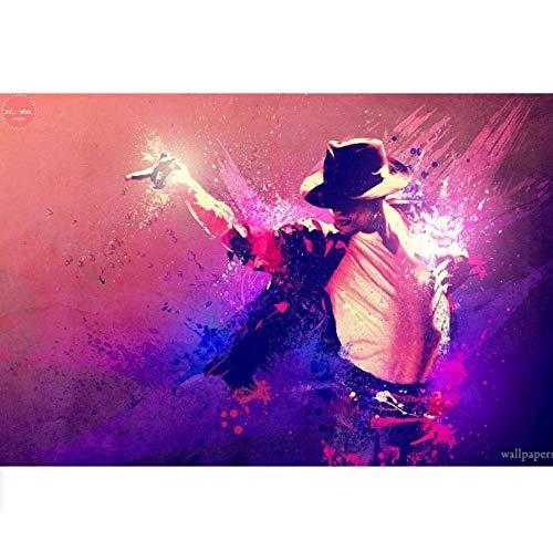 brity Singers Michael Jackson Home Decor Diamant Stickerei Verkauf Weihnachten Neujahr Dekorationen Für Zu Hause-30X40Cm ()