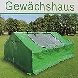 Gewächshaus grün 180x140x80cm Frühbeet Folienzelt Gartengewächshaus