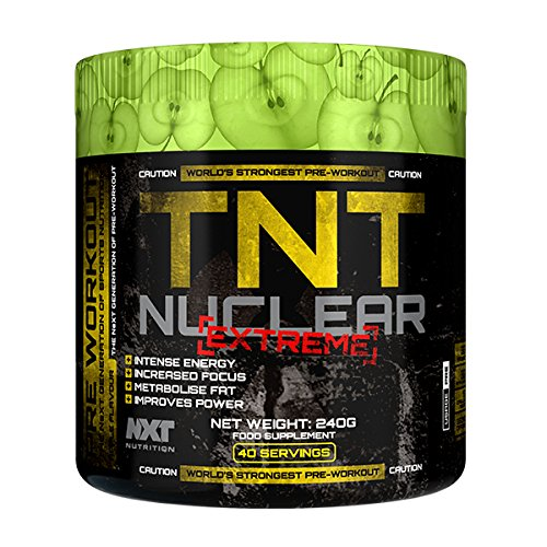 Fitness Hardcore Pre-Workout Booster für Pump und Fokus | Preworkout Supplement mit Arginine AKG, Beta-Alanine, Citrullin Malate | TNT Nuclear Extreme ist HALAL | 240g Pulver...