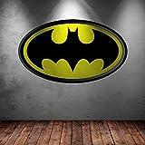 Wall Smart Designs Full Farbe Vinyl Art Wand Aufkleber Batman Logo Superheld Kinder Schlafzimmer Aufkleber Wandbild Graphic Transfer Print