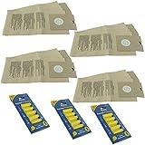 Paquete de 20 bolsas de papel Vacspare para Diablo de la suciedad, cisne + ambientadores para aspiradora