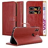 Cadorabo Funda Libro para HTC Desire 10 Pro en Rojo Burdeos - Cubierta Proteccíon con Cierre Magnético, Tarjetero y Función de Suporte - Etui Case Cover Carcasa