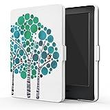 MoKo Hülle für Kindle 8 Generation - Die dünnste und leichteste Schutzhülle Smart Cover mit Auto Sleep/Wake für der Neue Amazon Kindle (8. Generation - 2016 Modell) 6 Zoll eReader, Wald Blau
