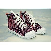 Low - High Top Sneakers Trainers Shoes,Kids, Boys, Girls, Unisex, Lanced, Slip - on, Zip, Nice Multicoloured, Sizes from 8/8,5UK - 26EU, 9UK - 27EU, 10UK - 28EU, 11UK - 29EU, - Bold Pink (11UK - 29EU)
