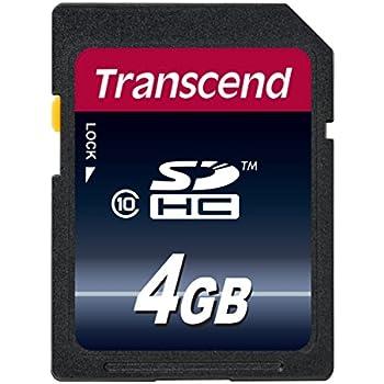 Transcend TS4GSDHC10 - Tarjeta de memoria de 4 GB (clase 10, 20 MB ...
