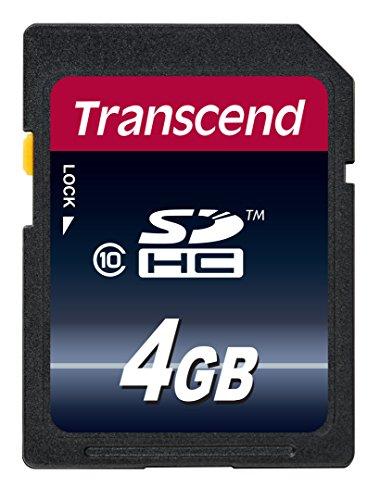 Transcend 4 Go Carte mémoire SDHC Classe 10 TS4GSDHC10E (30Mb/S) [Emballage « Déballer sans s'énerver par Amazon »]