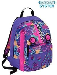 104008ac71 Zaino scuola SEVEN - SWAG GIRL - Blu Rosa - estensibile - VARIANT SYSTEM - 32  LT - elementari e medie inserti…