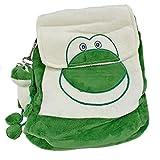 Süßer Kinder-Rucksack mit Plüsch und Stick ~ FROSCH ~ mit Schlüsselanhänger