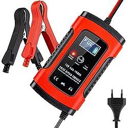 BUDDYGO Chargeur de Batterie, Booster Voiture Intelligent Portable, Chargeur de Batterie Moto/Voiture avec Protections Multiples, Charge, Maintient et Reconditionne Les Batteries Auto/Moto(5A / 12V)
