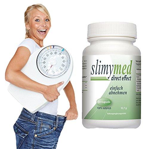 SLIMYMED effektive Diät Kapseln abnehmen schnell & einfach ohne hungern I natürlicher Fatburner ohne Koffein Fettverbrenner Appetitzügler Appetithemmer I 60 Diät Kapseln für