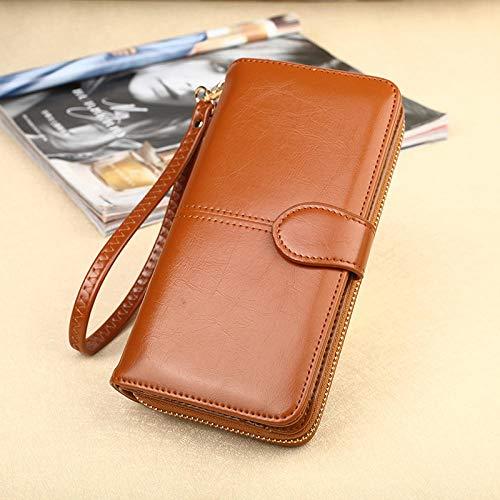 FJXMZX Handtaschen mit großem Fassungsvermögen Fashion wild Elegante Damenbrieftasche Einfache Handt