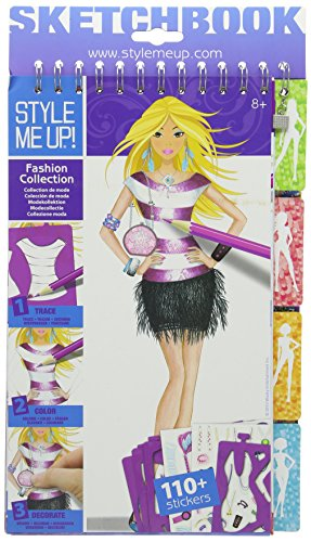 Fashion Sketchbook Designer (Style me up 1401 - Zeichenbuch Designermode, Medium Size)