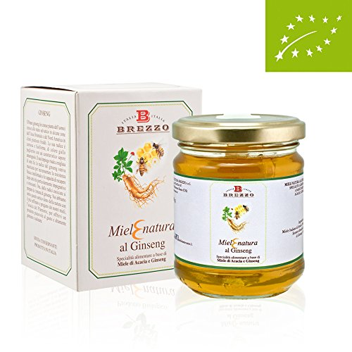 Organic Acacia Honey With Ginseng 250 Gr