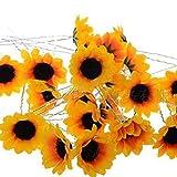 Hosaire 5pcs Haarschmuck Damenmode Haarspangen Fantaisie Fleur-Sonnenblume Zubehör Schöne Braut Decor Hüte Rand Clip Klammern Schmuck Geschenk