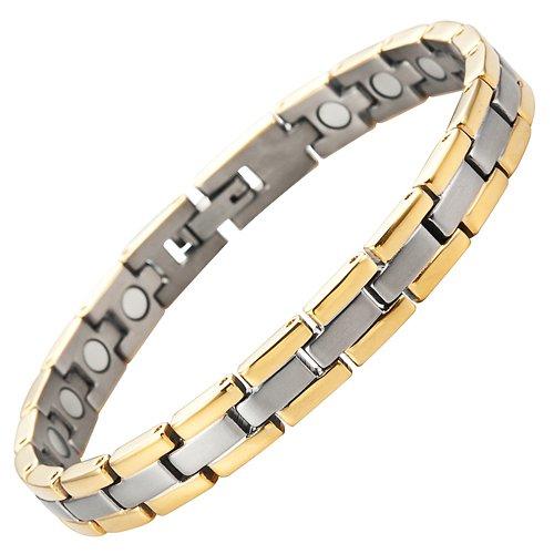 Willis Judd Damens Titan Magnetic Therapie Armband für Arthritis Schmerzlinderung Größe Einstellbar mit Geschenkbox