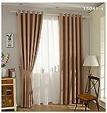 Moderner Stil Vorhang Solor massiv Faux Uni, Leinen Blackout Vorhang für Wohnzimmer Balkon Fenster Custom made-1pc, 1, 1pc(150x260cm)