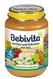 Bebivita Gemüse mit Hühnchen und Reis, 6er Pack (6 x 190 g)
