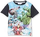 Avengers Ready Position, Camiseta para Niños, Azul (Navy 19-4010TC), 9-10 Años