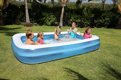 bestway rectangular inflatable family pool 120 inch blue - Rectangle Inflatable Pool