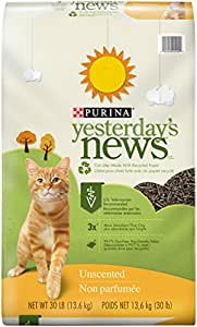 Yesterdays News Unscented Cat Litter, 13.6 Kg