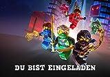 Lego Ninjago Einladungskarten 12er Set inkl. 12 Umschläge D4