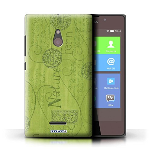 Kobalt® Imprimé Etui / Coque pour Nokia XL / Violet / Orange conception / Série Motif Nature Vert