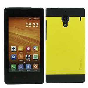 Heartly Cocose Hybrid Slim Dual Layer Hard Rugged Armor Bumper Back Case Cover For Xiaomi Miui Mi Redmi Note / Redmi Note Prime 4G - Best Yellow