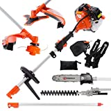 52CC MULTI FUNCTION 5-IN-1 GARDEN TOOL - STRIMMER, BRUSH CUTTER, CHAINSAW, ETC