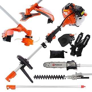 52cc Multi Función 5-en-1 Herramienta para el jardín – desbrozadora, Cortadora de cesped, motosierra, cortasetos y Más