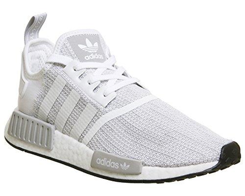 adidas NMD R1 White Grey Core Black - 7