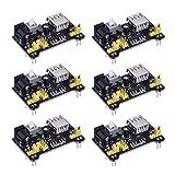 junkai 6 pz MB102 Modulo di alimentazione per breadboard, modulo di alimentazione dedicato per breadboard, compatibile con 5 V, 3,3 V