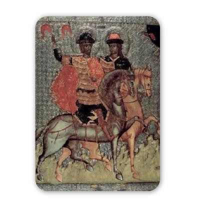 St. Boris and St. Gleb Mounted, c.1377.. - Mousepad - Natürliche Gummimatten bester Qualität - Mouse Mat
