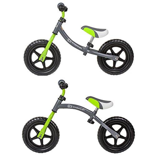 Kinderkraft 2Way Laufrad Lernlaufrad mit verstellbarem Rahmen Grau-Grün
