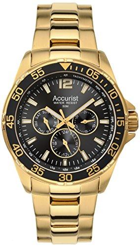 Accurist MB1040B - Reloj de pulsera para hombres, color dorado