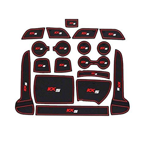 pour Kia Sportage KX5 16-18 Anti-dérapant de Porte Groove Porte Fente Pad Mat Car Kit Anti-dérapant Tapis Coupe Auto Décoration Regard