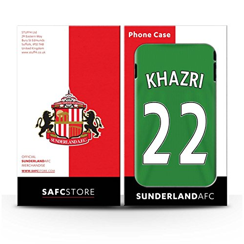 Offiziell Sunderland AFC Hülle / Case für Apple iPhone 4/4S / Pack 24pcs Muster / SAFC Trikot Away 15/16 Kollektion Khazri
