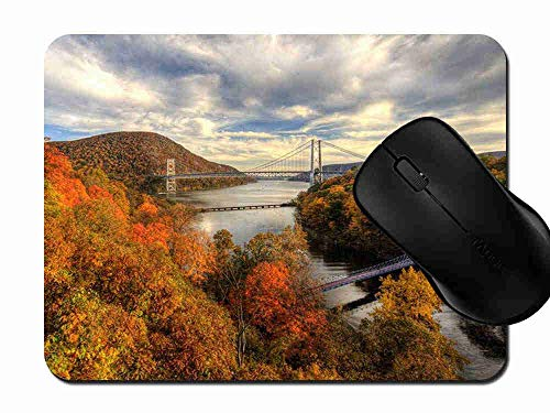 Hudson Computer (Mauspad Hudson River River Autumn Bridges Rutschfeste Gummi Basis Mouse pad, Gaming und Office mauspad für Laptop, Computer PC 1H771)