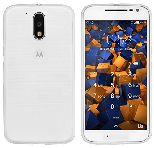 mumbi UltraSlim Hülle für Motorola Moto G4 / G4 Plus Schutzhülle transparent (Ultra Slim - 0.55 mm)