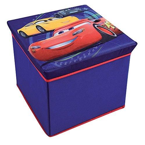 FUN HOUSE 712768 Tabouret de Rangement pour Enfant Untisse/MDF Bleu 30 x 30 x 30 cm