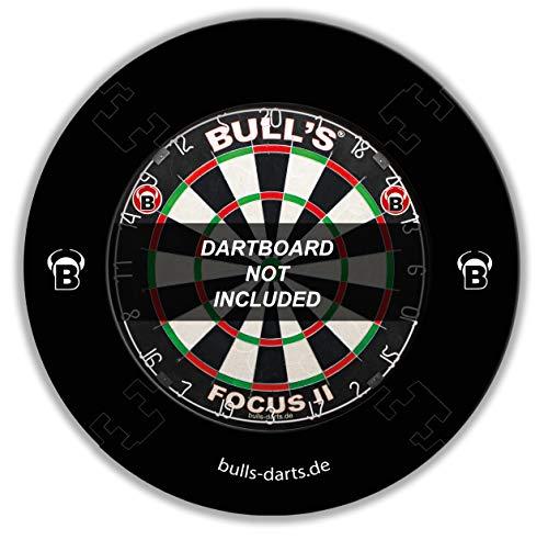 BULL'S/Quarterback Eva Dart Board Surround Schwarz (Schwarz Und Creme Tapete)