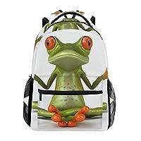 BENNIGIRY Lovely Animal Tree Frog Green School Backpack Book Bag Travel Daypack
