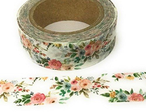 Schöne Blumen Craft Washi Tape. Vintage Floral 10m Roll Maskierung von Tape