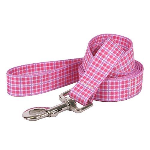 eppy Plaid Pink Dog Leash-Size klein/medium-3/10,2cm breit und 5Fuß (152,4cm) lang ()