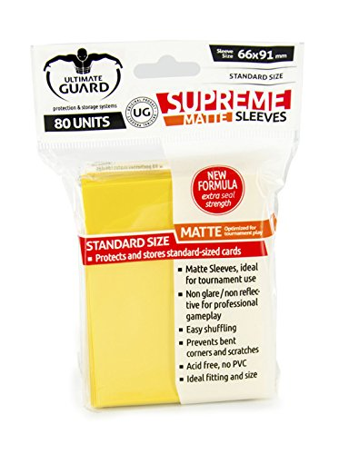 Ultimate Guard Supreme Sleeves Standard Size Matte Yellow (80) Ultimate Guard