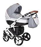 Coletto Florino Carbon FC - 03 Kinderwagen Baby, Autositz Kinderwagen System 3 in1, Regenschutz