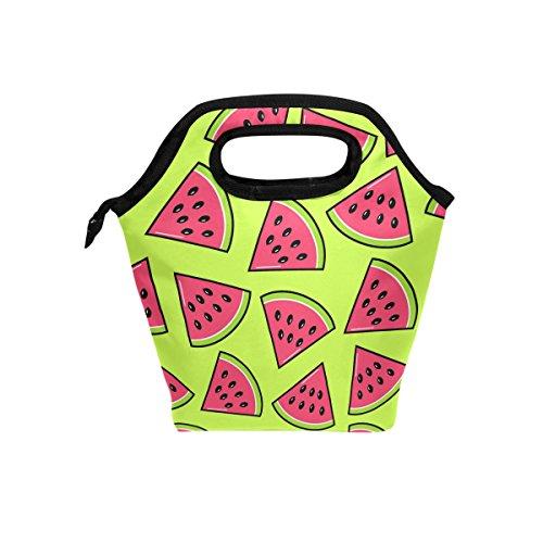 jstel trendige Wassermelonenscheiben Lunch Tasche Handtasche Lunchbox Frischhaltedose Gourmet Bento Coole Tote Cooler Warm Tasche für Reisen Picknick Schule Büro