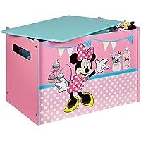 Preisvergleich für Unbekannt Disney Minnie Mouse Toy Box MDF Holz Deckel Spielzeugkiste Aufbewahrungsbox Kinder