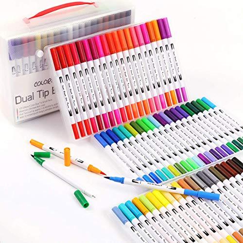 YaToy Brush Pen Set 36 Farben Pinselstifte Aquarell, Fineliner Tip für Bullet Journal/Marker/Hand...